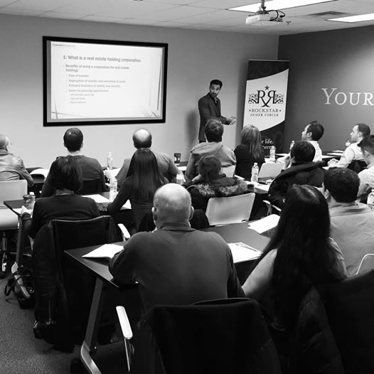 Earlier this week Fabio taught a course on Corporations to real estate investors at Rock Star Real Estate! Thanks to all those that came out, it was a great night!
