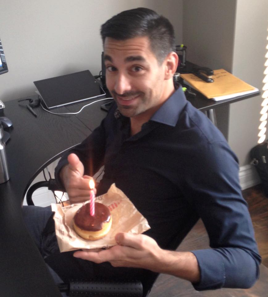 Nothing says Happy Birthday like a Boston Cream donut! Help us wish Fabio a happy birthday today!!!