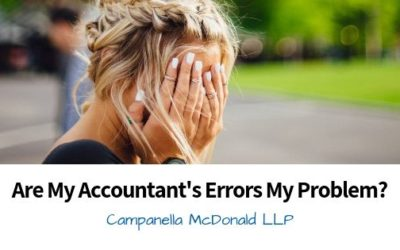 Are My Accountant's Errors My Problem?