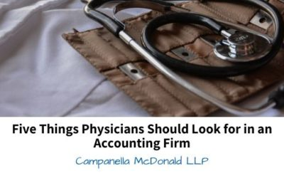 Five Things Physicians Should Look for in an Accounting Firm