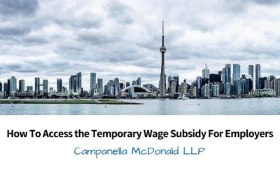 How To Access the Temporary Wage Subsidy For Employers