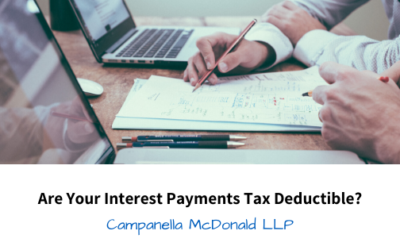 Are Your Interest Payments Tax Deductible?