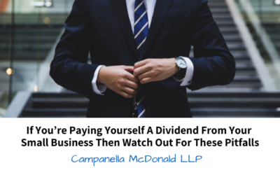 If You're Paying Yourself a Dividend From Your Small Business Then Watch Out For These Pitfalls